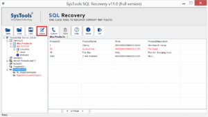 export the recovered tables data